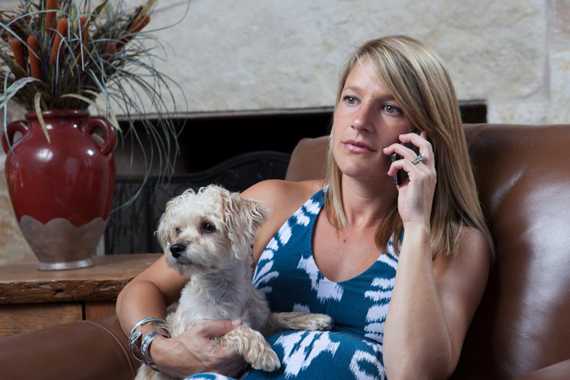 Calling With Dog